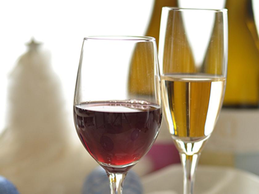 ワイングラス入り